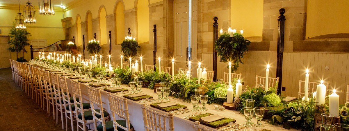 Intimate dinner at the Stables Tearoom, Hopetoun House