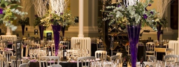 Lilac and black event design