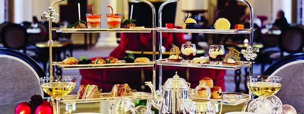 Festive afternoon tea at Colonnades