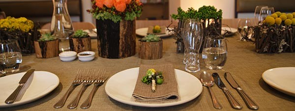 Private party table settings