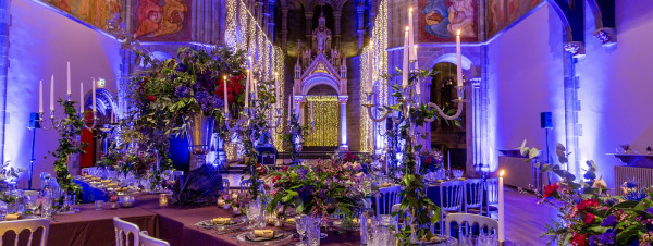 Silver and blue themed Events Venue