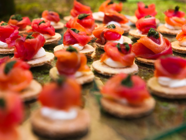 Beetroot and Goats Cheese Wedding Canapes
