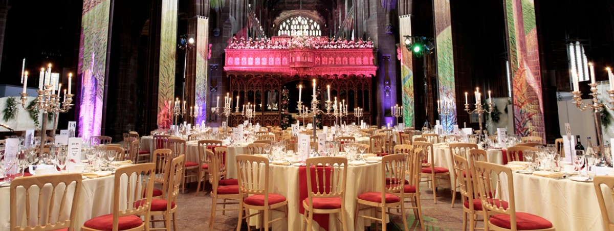 Manchester Cathedral corporate dinner