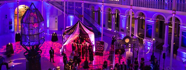 Cirque du Soleil themed showcase event at the National Museum of Scotland