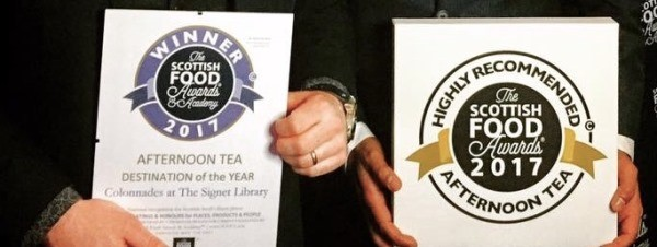 Top afternoon tea awards for Colonnades at the Signet Library