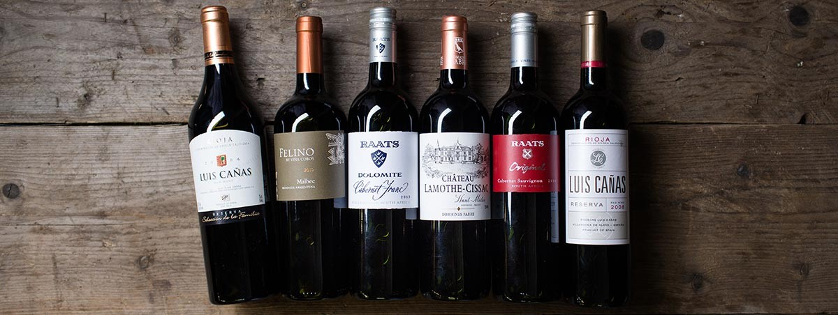 Robust reds selected by our Wine Ambassador Frans