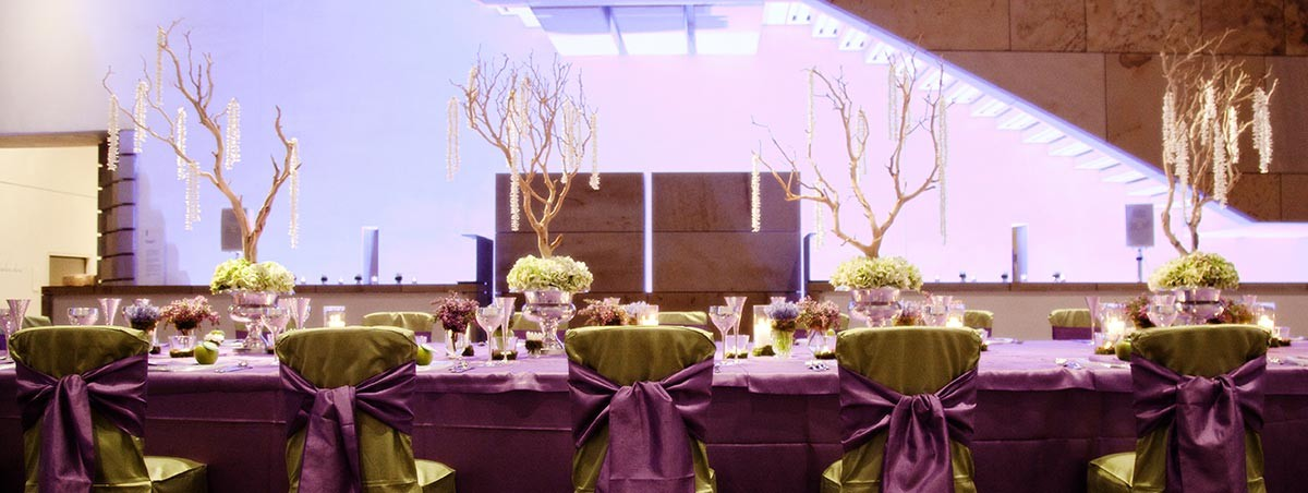 Lime and Violet Table Linens Events Edinburgh