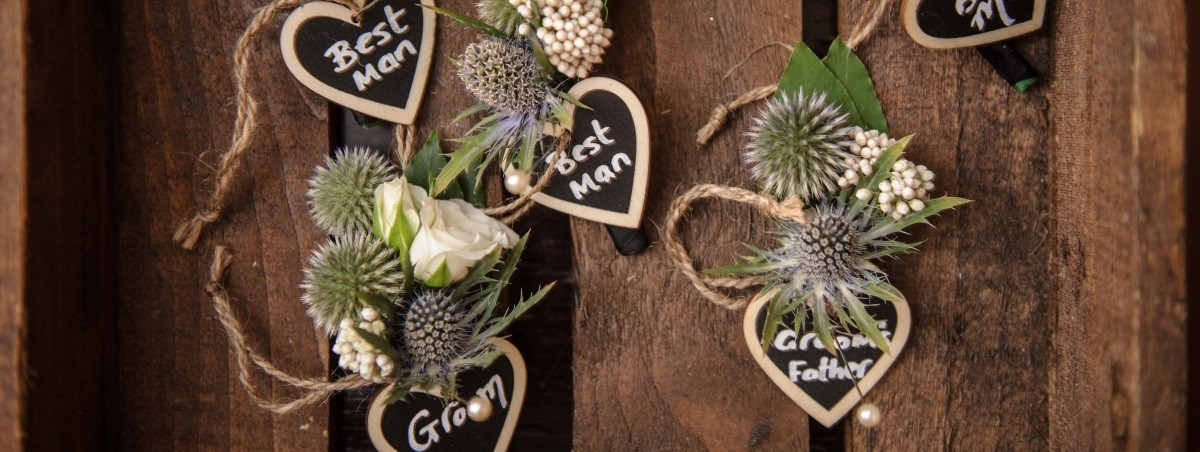 Wedding Buttonholes Thistles