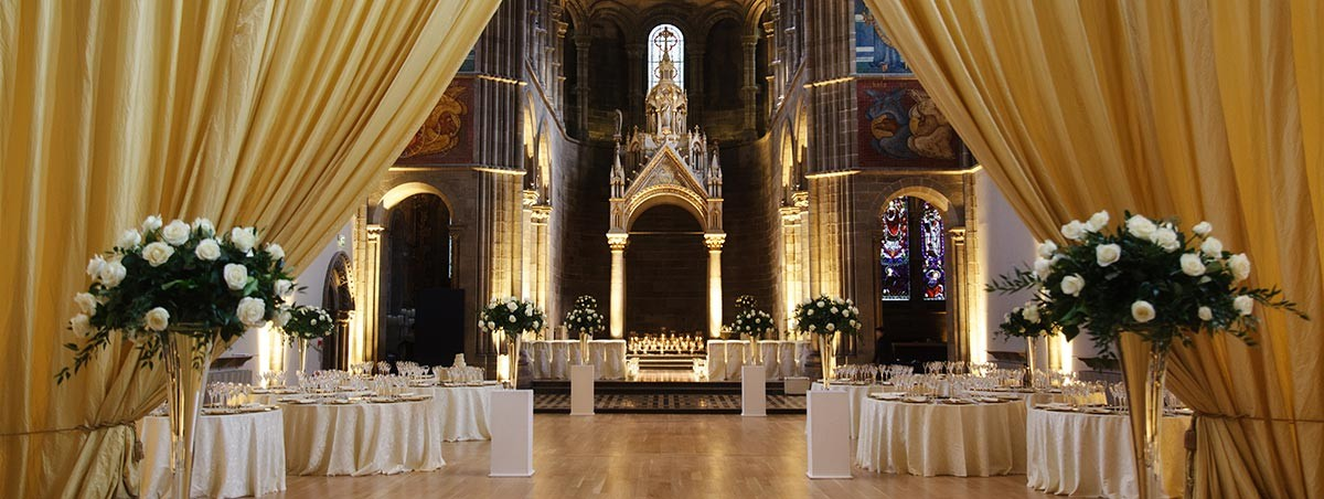 Classic Golds and cream Wedding theme Mansfield Traquair