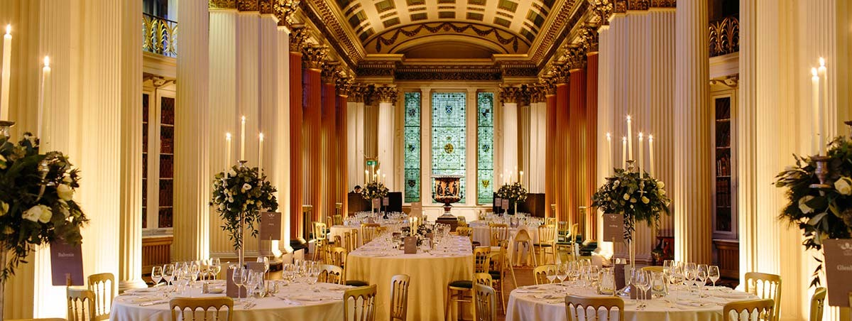 Soft Wedding Lighting and Candles Signet Library
