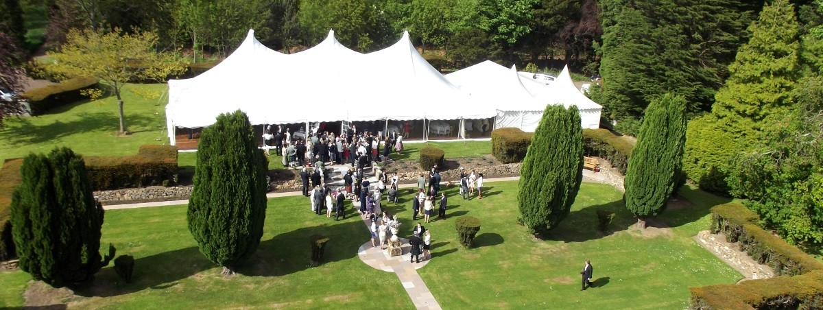 Wedding Marquee Gilmerton House Scotland