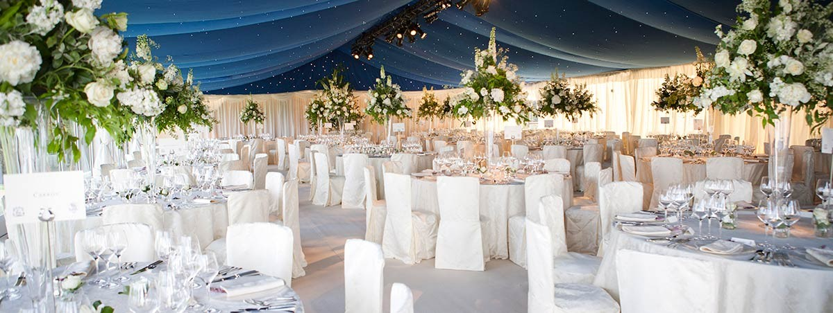 Dark Blue Starcloth Wedding Marquee