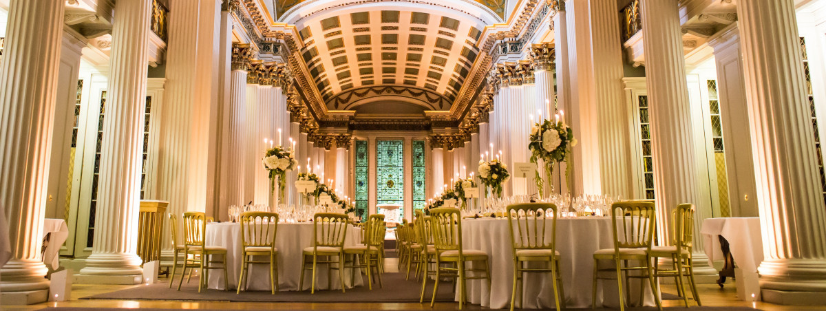 Wedding Reception at the Signet Library, an exclusive use venue in the heart of Edinburgh