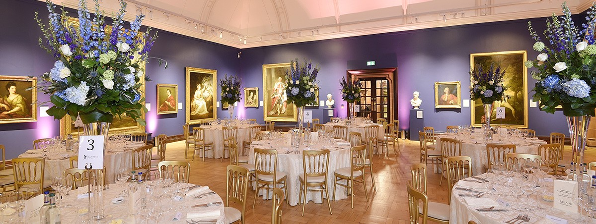 Corporate gala dinner - Ramsay Room at the Scottish National Portrait Gallery