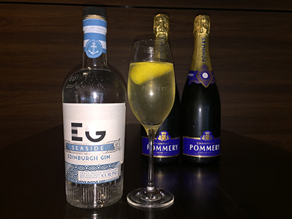 French 75 champagne cocktail