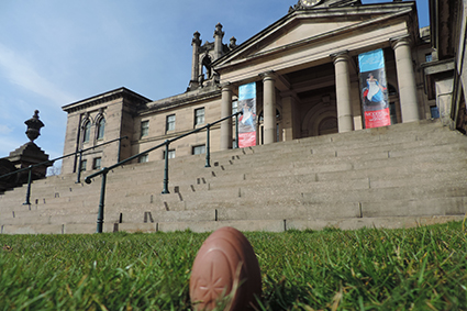 Jester the Egg at the Scottish National Gallery of Modern Art Two