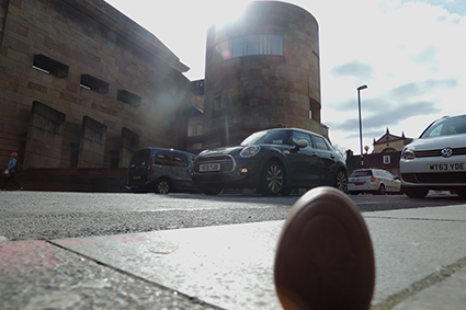 Jester the Egg at the National Museum of Scotland